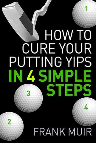 How to cure your putting yips - Ebook cover design